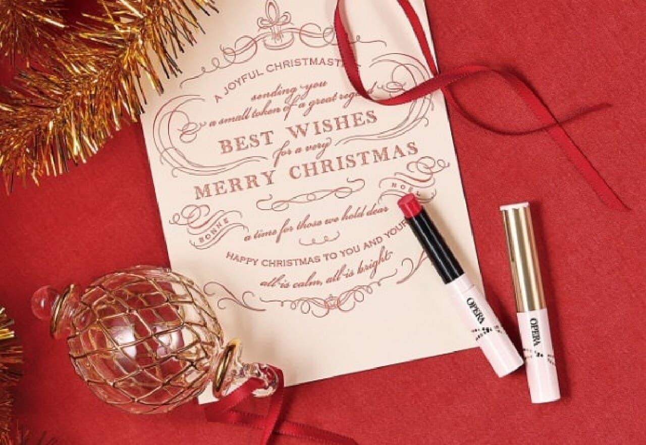 「オペラ シアーリップカラー N」のクリスマス限定カラー