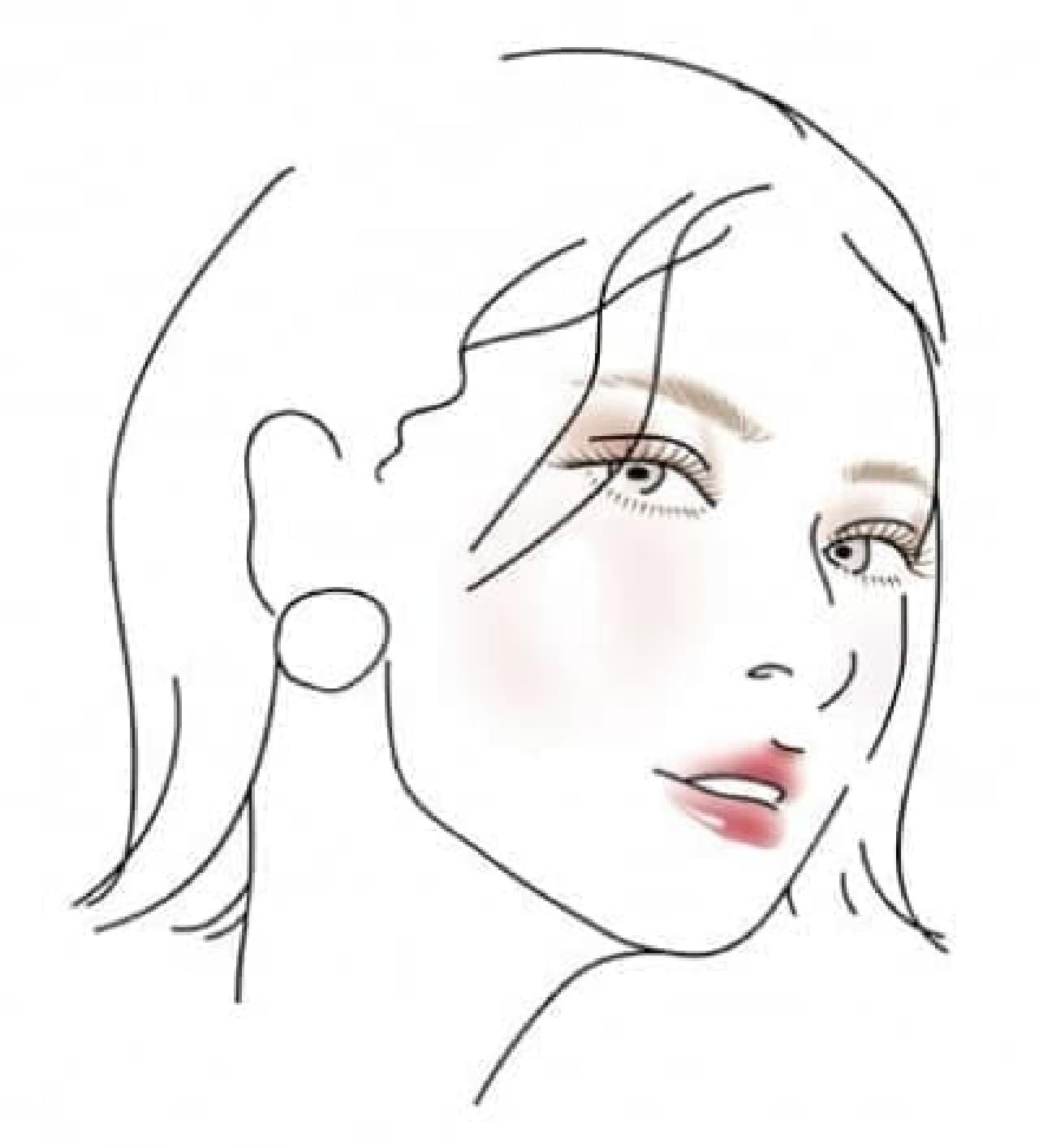 「塗るつけまつげ」自まつげ際立てタイプのダークブラウンを使ったメイク例