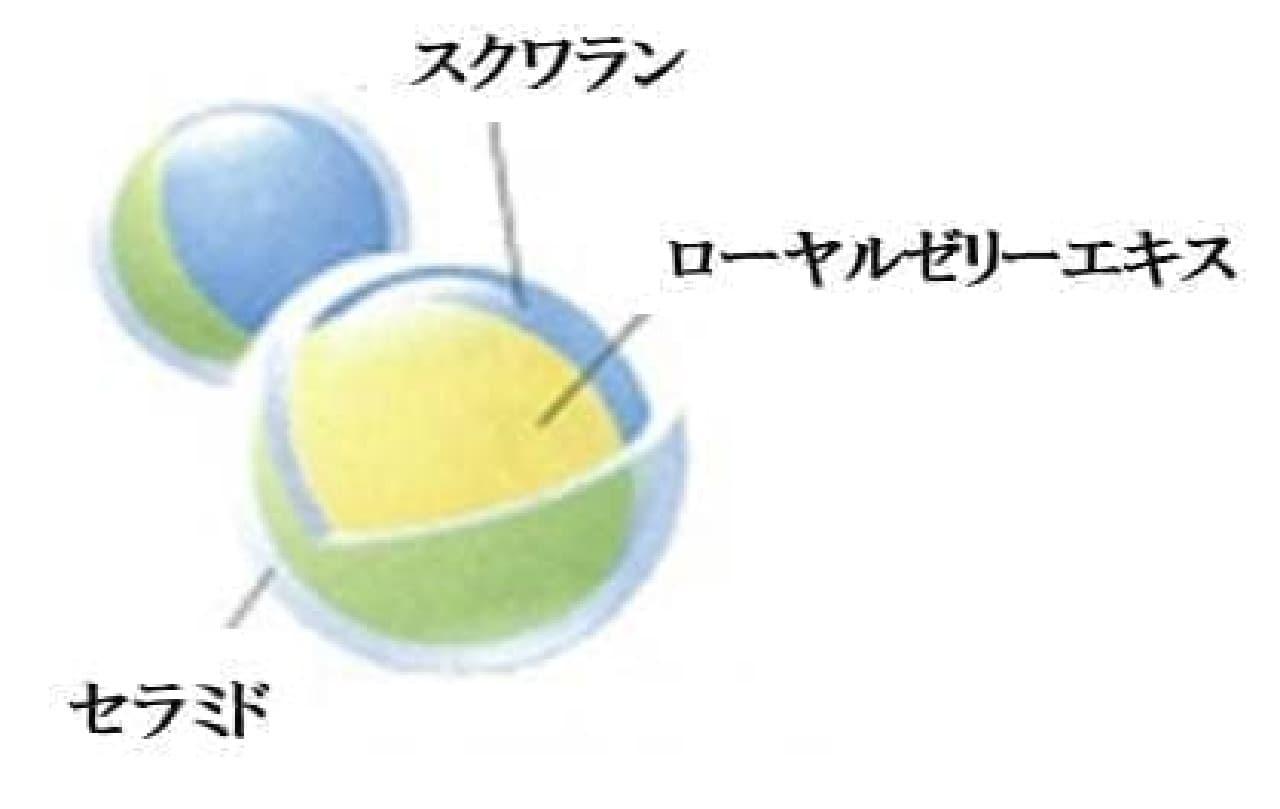 """山田養蜂場オリジナルの微粒子カプセル""""ローヤルリフト"""""""